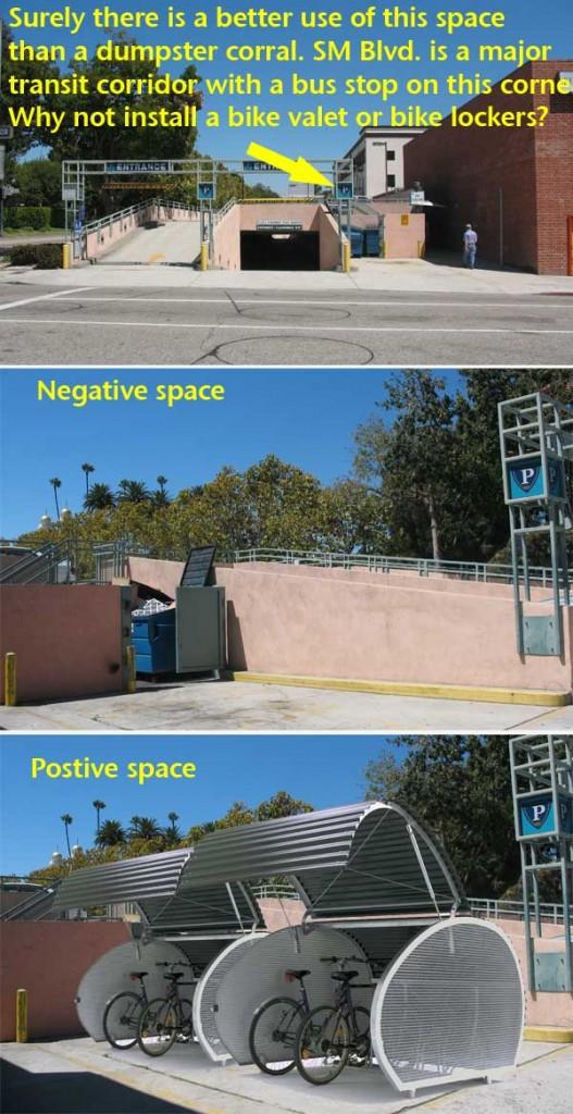 Visualization of parking lot bike lockers