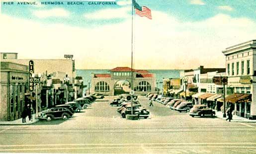 Hermosa Beach old postcard
