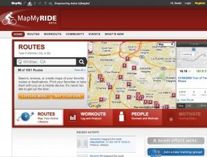 Map my ride screenshot