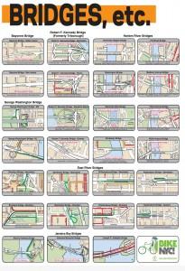 Map of bike-friendly NYC Bridges