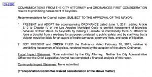 Anti-harassment ordinance