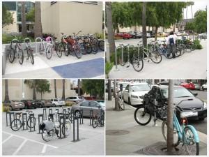 Santa Monica library racks are chock full of bikes!