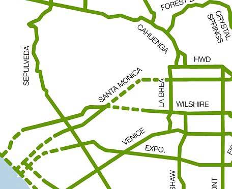 Bike Backbone map missing Beverly Hills piece