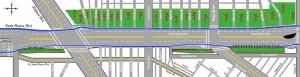 Proposed alternatives for SM Boulevard (courtesy Alec Friedmann)