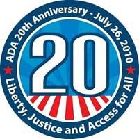 ADA 20th Anniversary logo