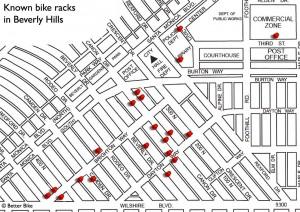 Better Bike Golden Triangle bike rack map