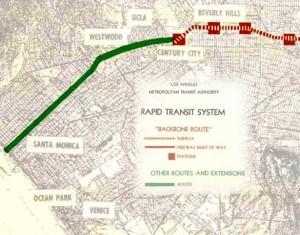 Metro backbone route map 1961