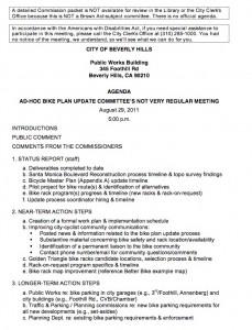 Stakeholders' Agenda 8/29 Ad-Hoc Committee