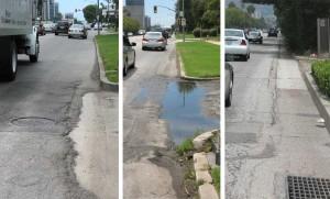 Santa Monica Boulevard road conditions