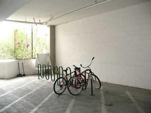 Foothill Boulevard garage bike rack