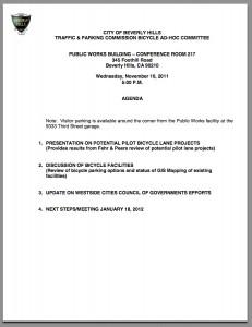 Ad-Hoc agenda for November 16 screenshot