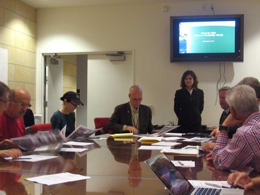 Ad-Hoc Bike Plan Update Committee at work