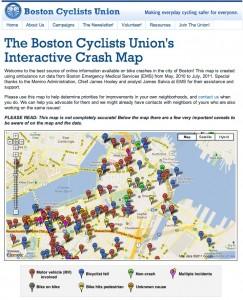 Boston Cyclists Union bikemap overview