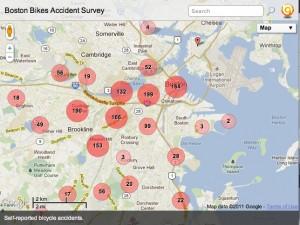 Self-reported Boston Bike Collisions