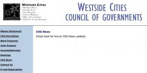 Westside COG website - no information
