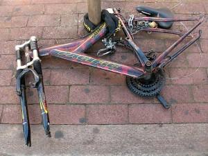 Stripped bike NYC style