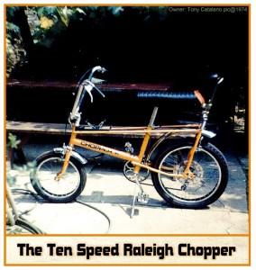 Anthony Catalano's Raleigh Chopper circa 1974