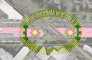 Gateway land use study pedestrian zone diagram (2006)
