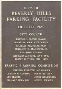 Garage commemorative plaque