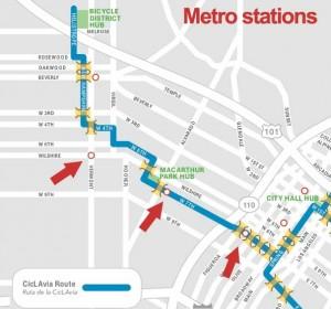 CicLAVia-Metro-stations