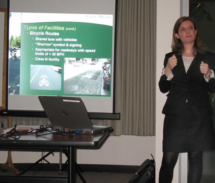 Sarah Brandenburg at the Pilot outreach meeting 2012-4-25