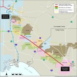 Santa Ana Corridor map