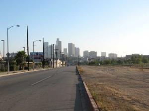 Approaching Downtown via Cornfields Park