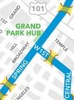 Ciclavia Grand Park hub map 2012-10-7