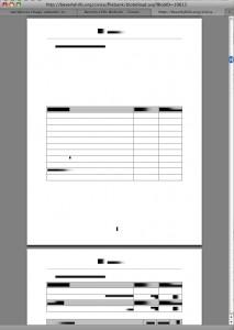 Budget document not legibile