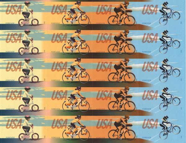 USPS bike stamps 2011
