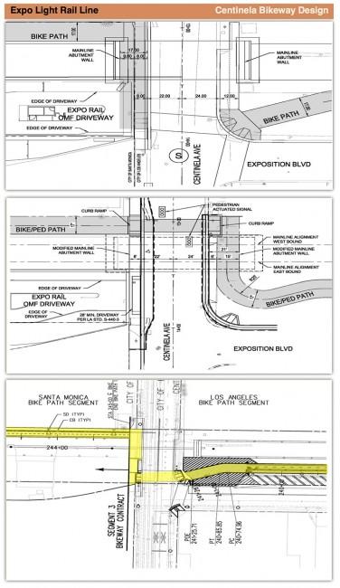 Expo Centinela bikeway designs
