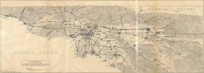 Auto Club Los Angeles region map
