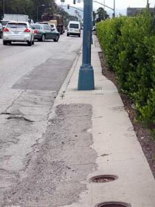 Santa Monica Boulevard sidewalk conditions