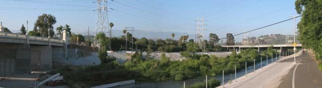 Los Angeles River bike path
