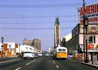 Wilshire Boulevard circa 1954