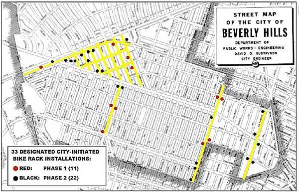 City initiated racks map