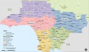 Metro service areas map