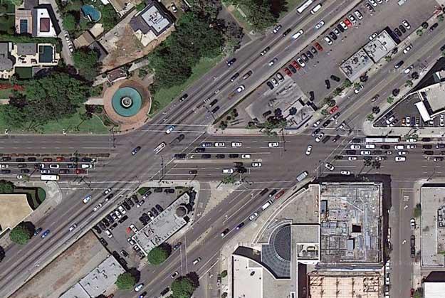 Wilshire-Santa Monica intersection