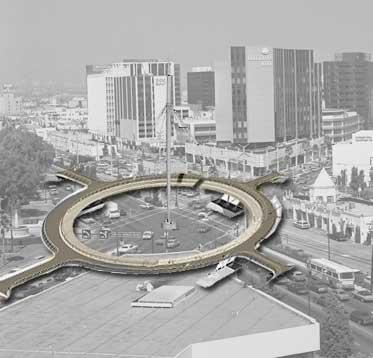 Wilshire-Santa Monice hovenring visualization