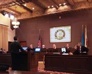 City Council discussing bike lanes