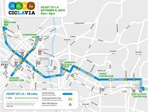 Ciclavia 2014-10-5 map