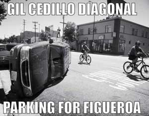 Cedillo's diagonal parking