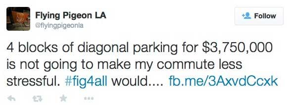 Figueroa diagonal parking tweet