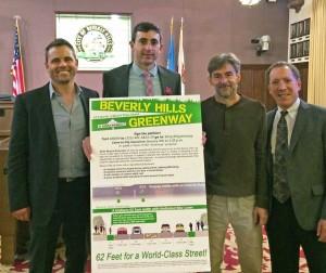 Greenway organizers at City Council