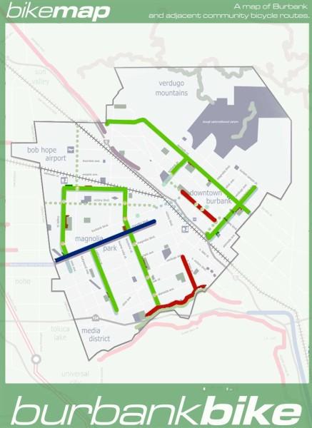 Burbank bike map