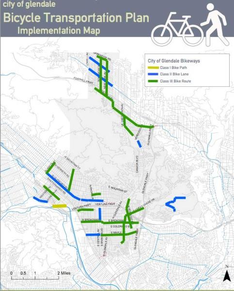 Glendale bike map