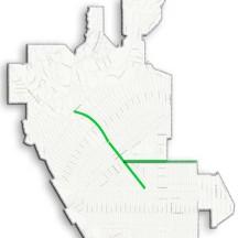 Pilot routes map illustration