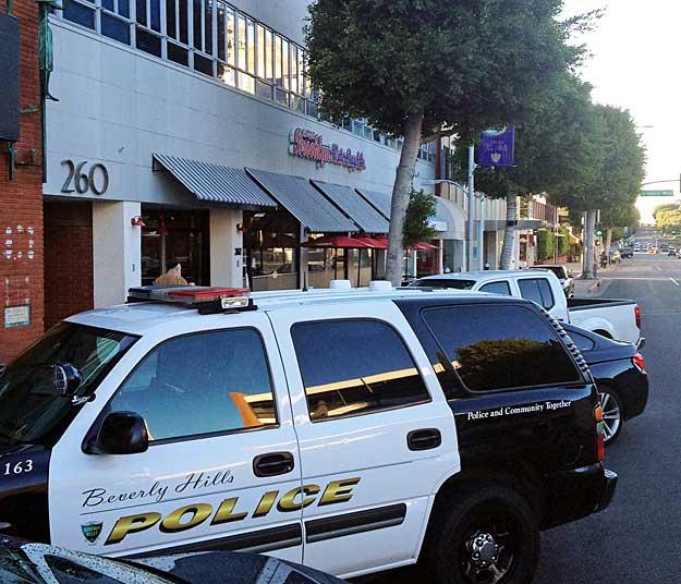 Police enjoying a coffee at Brooklyn Bagels
