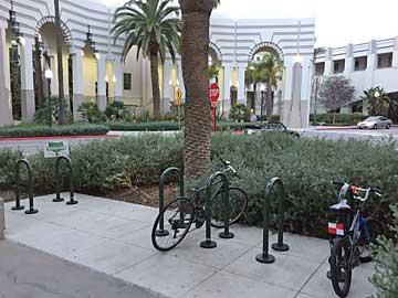 Complete Streets workshop #1 empty bike racks