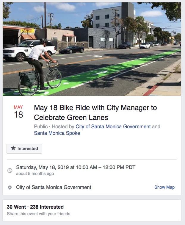 Rick Cole bike ride to celebrate green lanes invitation
